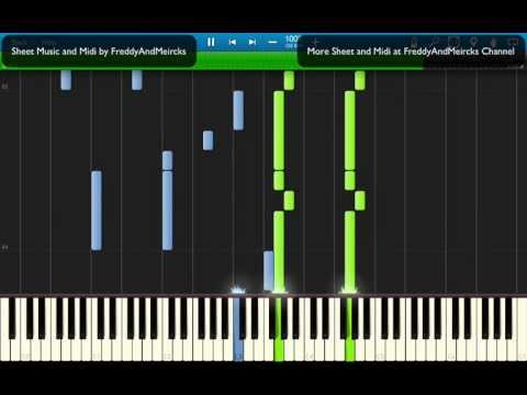 Coldplay - Paradise (Piano Synthesia) with SHEET MUSIC and MIDI - by Freddy And Meircks