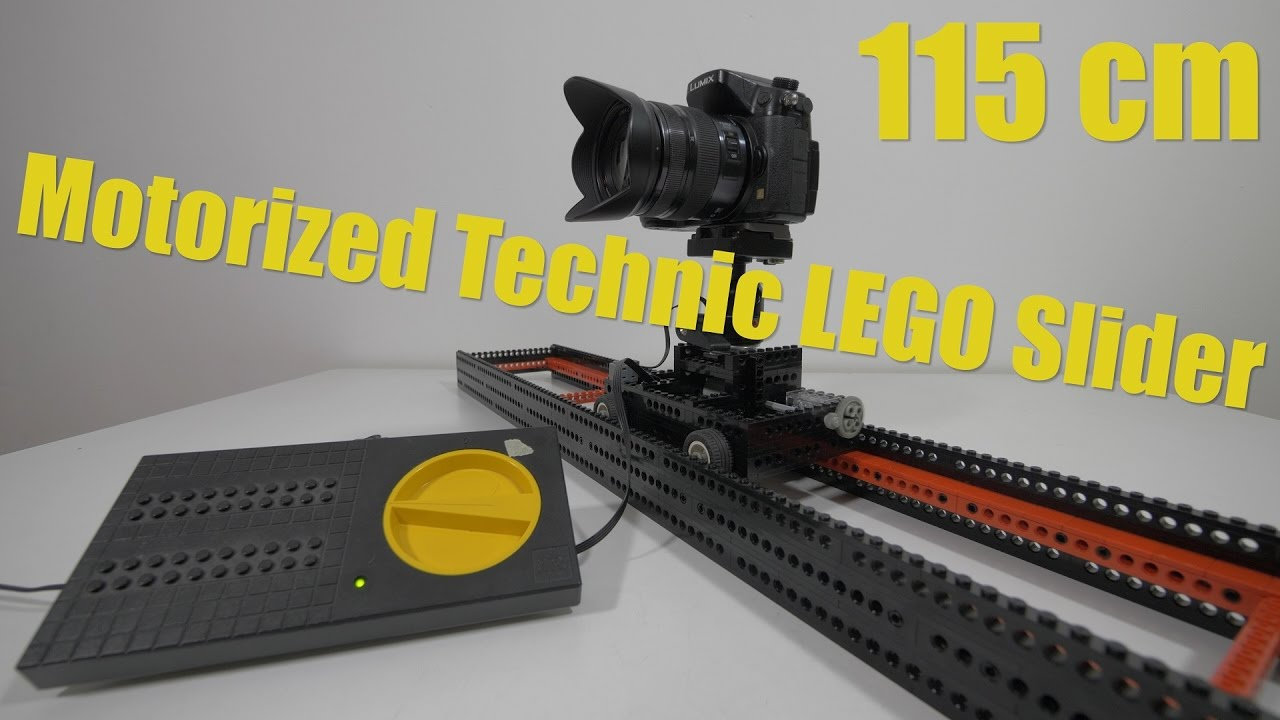 Motorized lego camera slider by dutchvideoshooter 4k Motorized video slider