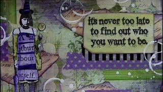 Mixed Media Art Postcard - It's Never Too Late