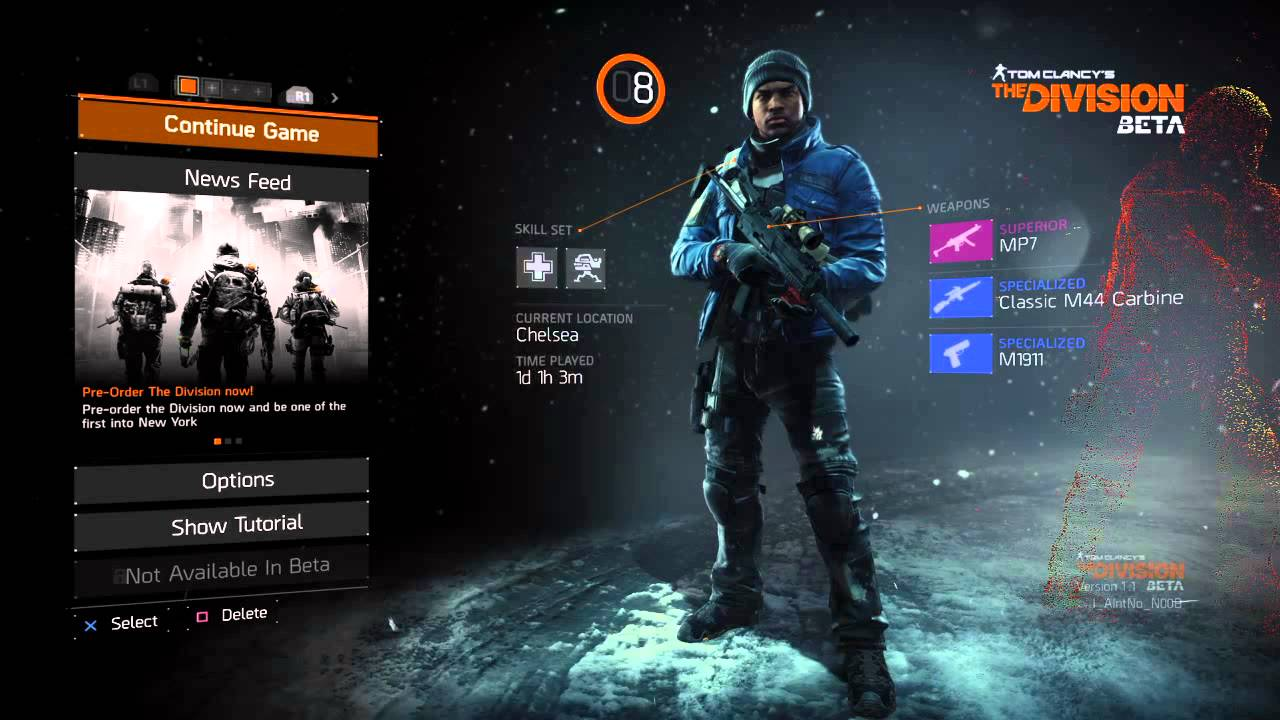 Tom Clancy's The Division Main menu theme song - YouTube