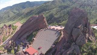 Red Rocks Amphitheater drone footage (must see)