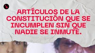 Artículos de la Constitución que se incumplen sin que nadie se inmute.