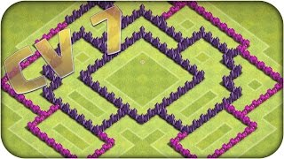 Clash of Clans Layout Anti Aéreo Guerra CV 7 + Salve pra Rapaziada