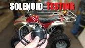 How To Test A Motorcycle, ATV & UTV Starter Relay - YouTube