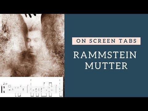 Rammstain - Mutter | Guitar Tab Play Along