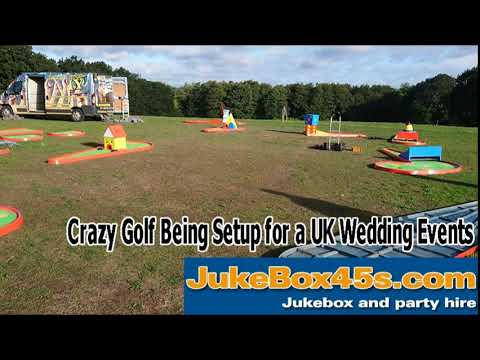 Wedding crazy golf mini golf party rental