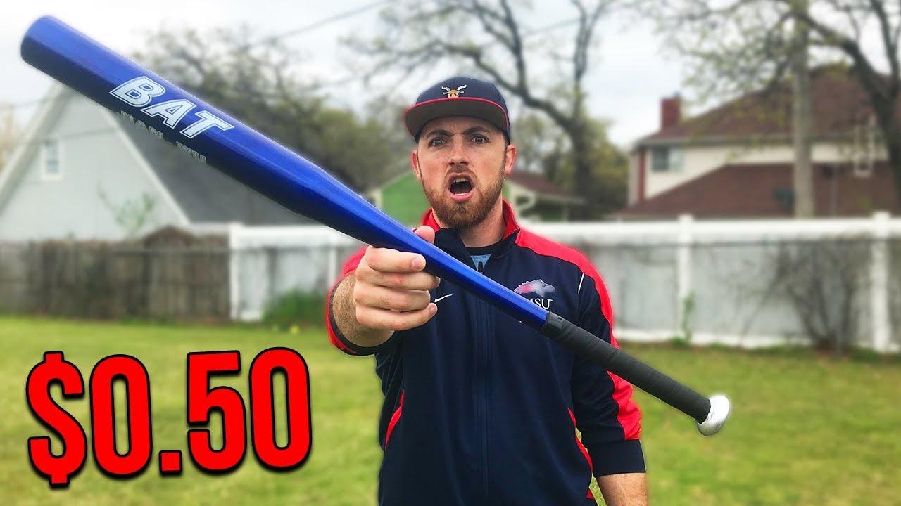 This Is The World's CHEAPEST MLB Baseball Bat!