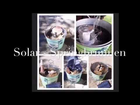 solar - springbrunnen shabby chic im eimer selber bauen für balkon, Garten und bauen