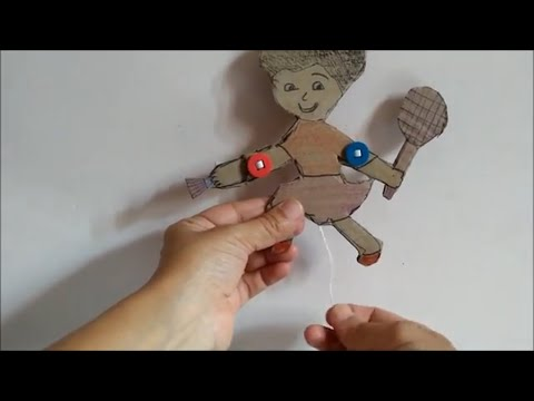 How to make a Cardboard moving puppet DIY