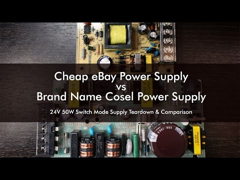 Cheap $8 Ebay Power Supply vs $85 Cosel Power Supply Teardown