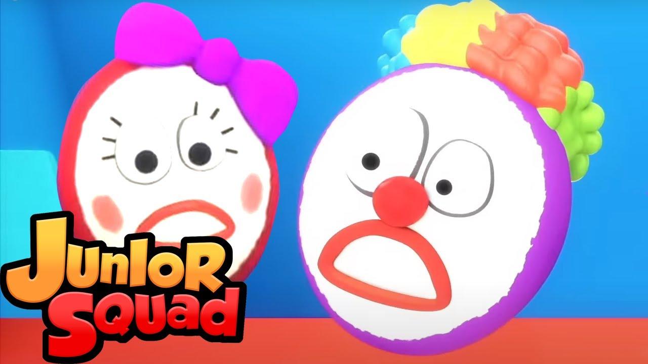 Шалтай Болтай сидел на стене | развивающий мультфильм | Junior Squad Russia | потешки