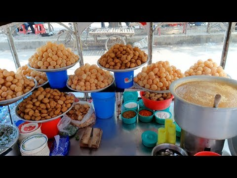 Yummy fuska or Pani puri recipe Indian Golgappa* Popular street foods jhal fuska of Dhaka in BD