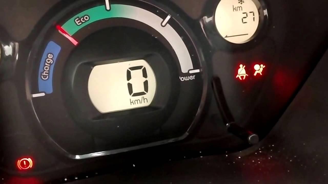 I Miev Winter Range Test Using Original Heater