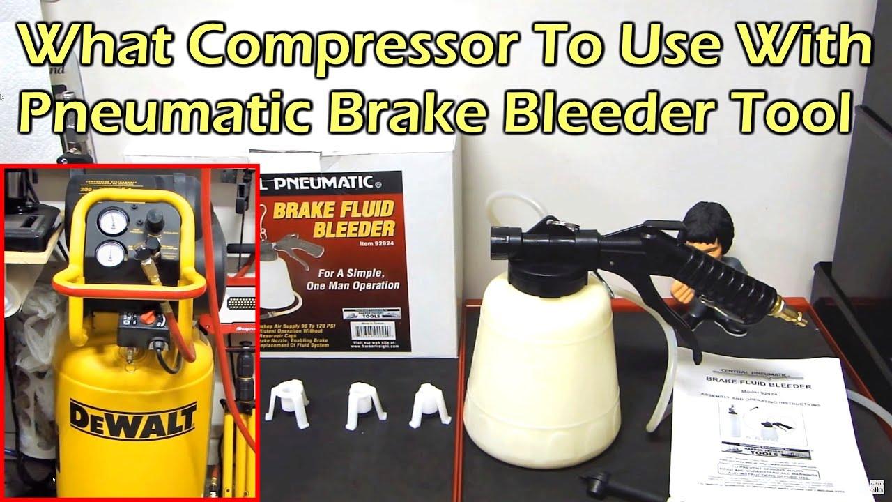 Harbor Freight Pneumatic Brake Fluid Bleeder Item 92924 Youtube