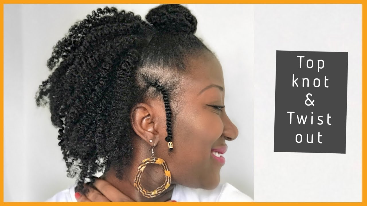 top knot twist out on thin/fine natural hair|| holidays hairstyles || adede