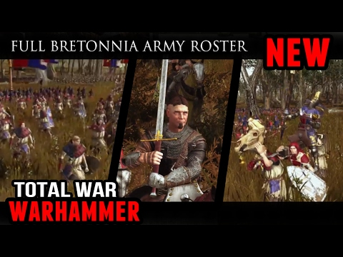 Total War: Warhammer - Full Bretonnia Army Roster (Battle Gameplay)