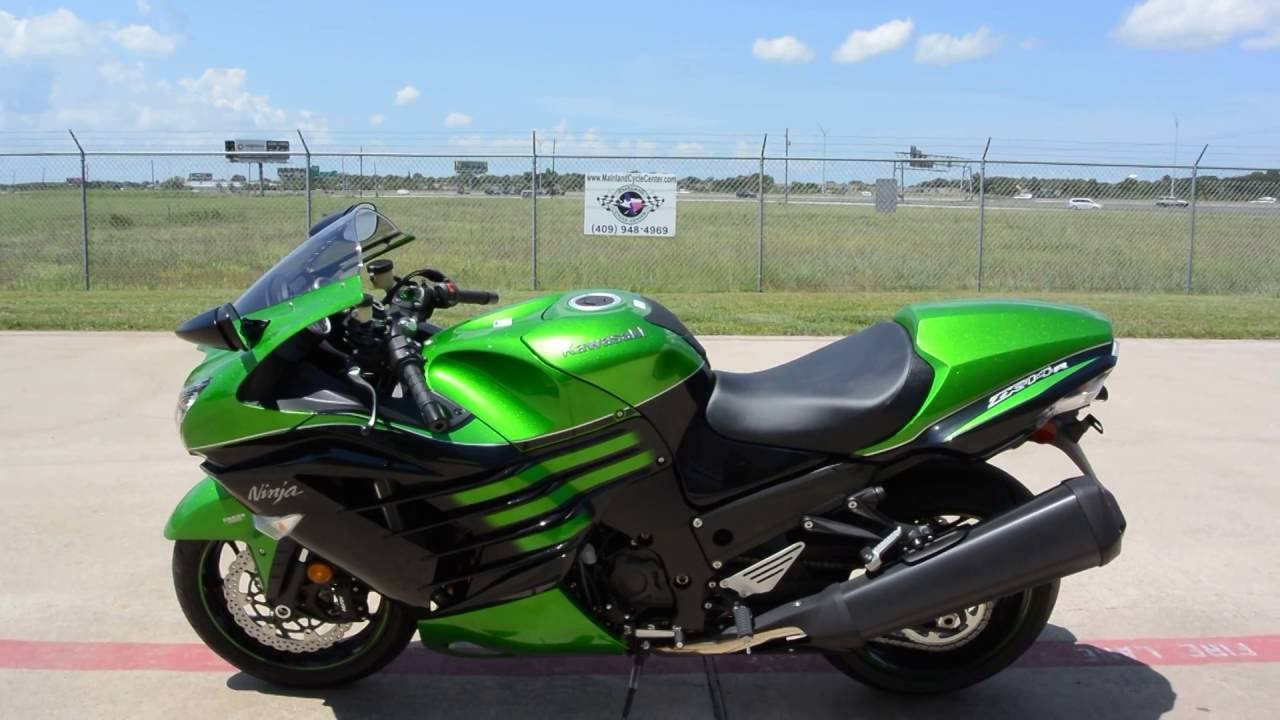 SALE $11,099: 2016 Kawasaki ZX14R Golden Blazed Green Overview and ...