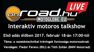 Onroad.hu Live: interaktív motoros talkshow, 1. adás
