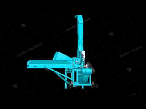 Animal Feed Chopping Machine Forage Cutter Component Disassembly Running 3D Animation