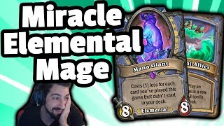 Legend Miracle Elemental Mage - Hearthstone Descent Of Dragons