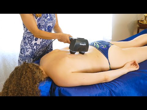 Deep Tissue Massage Therapy for the Back & Review of Thumper Percussive Massager Tool, Tapotement