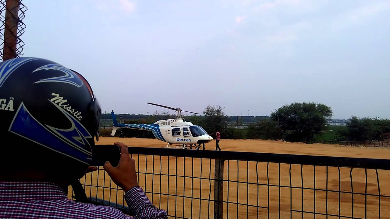 How did Helicopter crash on Necklace Road in Hyderabad??
