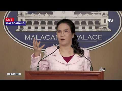 Press briefing sa Malacañang kasama sina Presidential Spox Abella at PAO Chief Acosta