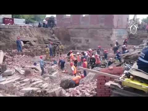 Виде с места обрушения стены насосной станции опубликовал СК Новосибирска