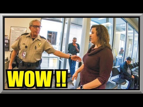 IS THIS SECURITY GUARD FOR REAL? - COLORADO MOTOR VEHICLES- First Amendment Audit - Amagansett Press