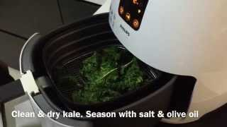 Making Kale Crisps With The Philips Airfryer.