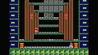 Wrecking Crew NES Walkthrough (Part 1 - Phases 1 to 24) [HD]