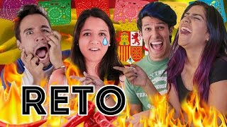 HOW MUCH SPICY THE SPANISH ENDURE? | EXPCASEROS AND POLINESIO CHALLENGE #YOUTUBEPROWEEK