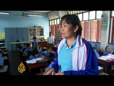 Thai school kids get a taste of modern education