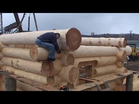 видео: Эксклюзивная деревянная русская баня (дикий сруб)