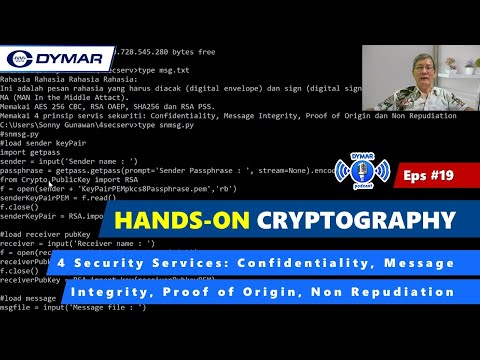 4 Security Services Part 19 Hands On Cryptography Youtube