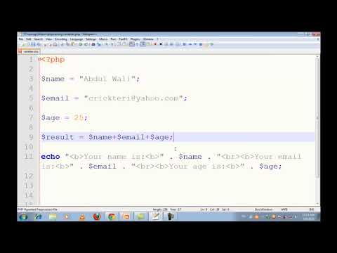 New PHP MySQL Tutorials in Urdu Hindi part 5 local variables   YouTube