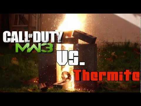MW3 Vs.THERMITE Disc Destruction! (THERMITE REACTION)