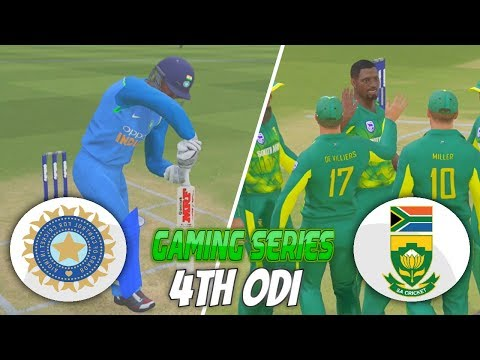 INDIA vs SOUTH AFRICA 2018 4TH ODI - ASHES CRICKET 17 (GAMING SERIES)