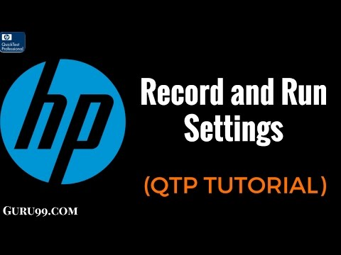 How to Record and Playback UFT/QTP Script