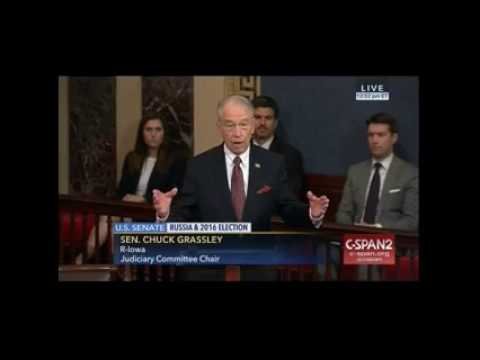 Senator Chuck Grassley Calls Out the Democrats for Lying About President Trump