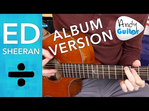 Ed Sheeran - Eraser Guitar Lesson Tutorial ( How to play ) Chords