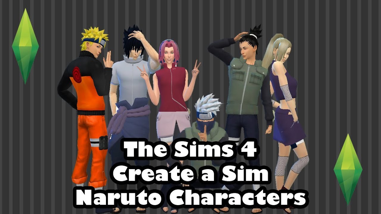 Sims 4 Anime Characters : The sims create a sim anime character tag naruto