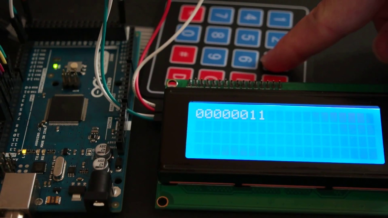 Arduino Base Converter with 4×4 Keypad and I2C LCD