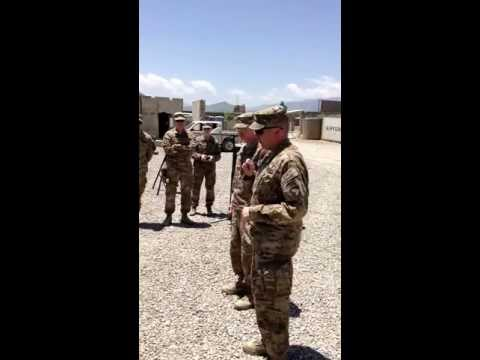 Promotion Ceremony, 18 JUN 2013, Camp Clark, Afghanistan