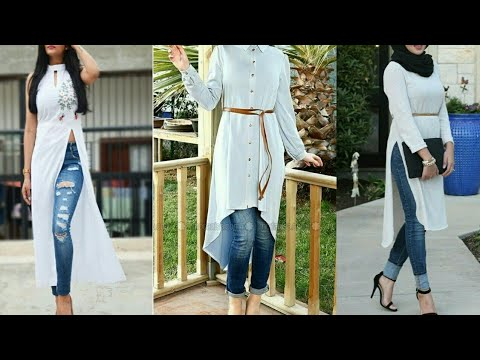 Kurtis With Jeans | Long Tops With Jeans