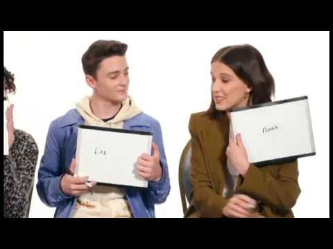 Millie Bobby Brown with Noah Scnapp Fun/Funny Moments Part 1