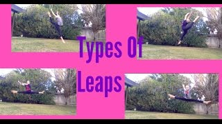 Types Of Leaps/Jumps|AcroAngelaAcrobatics