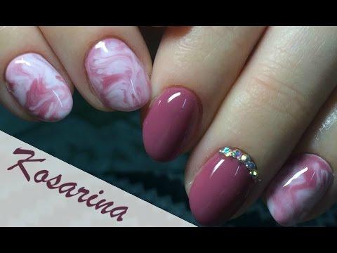 САМЫЙ быстрый дизайн гель-лаком \\ Мраморные ногти \\ Текстура натурального камня