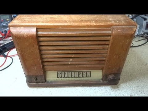 Repair of A 1948 General Electric GE YRB 83 1 Tube Radio