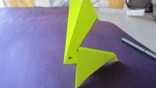 kids easy paper craft work - paper rabbit